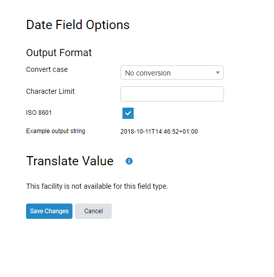 How do I translate values (Export Schedules & Real-time